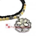 New Jewellery Rhinestones Opal Flower Necklace JW0012