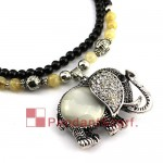 New Opal Elephant Pendant Necklace Jewelry Necklace JW0017