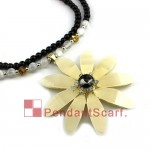 New Noble Flower Pendant Charm Pendant Necklace JW0024