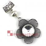 Big Flower Glass Metal Pendant Necklace Scarf Jewellery AC0279