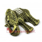 Antique Bronze Rhinestone Elephant Scarf Jewelry Pendant AC0310