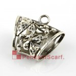 Metal Butterfly Scarf Charms Pendant Slide Bails Wholesale AC0056A