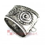 Antique Silver Self Closing Fashion Pendant Scarf Clasp Bails AC0323A