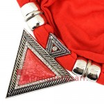 Fashion Geometric Gem Triangle Pendant Jewelry Scarf SC0045