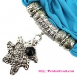 Retro Leaf DIY Costume Jewelry Pendant Necklace Scarf SC0047